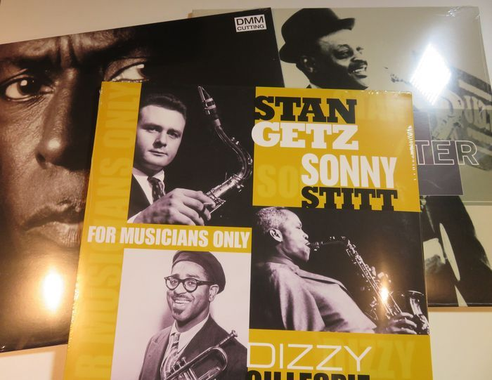 Online veilinghuis Catawiki: Triple JAZZ - lot: Miles Davis / Ben Webster / Stan Getz / Sonny Stitt / Dizzy Gillespie on 3xLP with bonus tracks