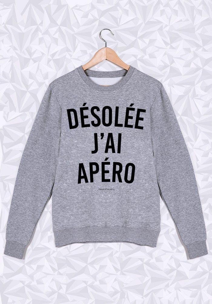 DÉSOLÉE J'AI APÉRO - #JaimeLaGrenadine #citation #punchline #sweat #apero