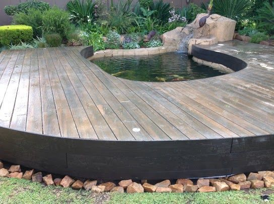 17 best images about build an eva tech deck anywhere on for Koi pond deck