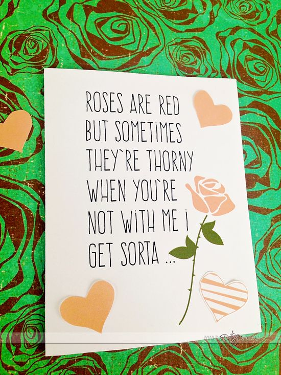 Ha ha ha- the inside is hilarious!  Valentine card for the hubby.