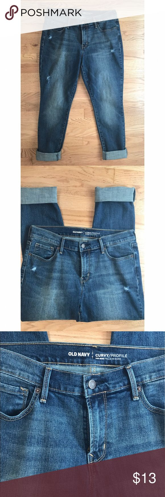 Old Navy Curvy Profile Jeans Old Nacy Curvy Profile Mid-Rise jeans. Can be cuffed up or let down. Size 8 short Old Navy Jeans