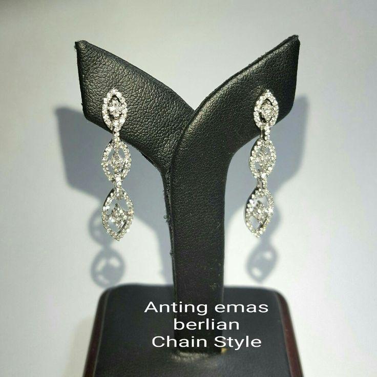 New Arrival🗼. Anting Emas Berlian Chain Style💍💎.   🏪Toko Perhiasan Emas Berlian-Ammad 📲+6282113309088/5C50359F Cp.Antrika👩.  https://m.facebook.com/home.php #investasi #diomond #gold #beauty #fashion #elegant #musthave #tokoperhiasanemasberlian