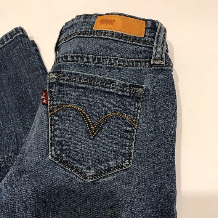 Levi's Demi Curve Faded Denim Juniors Women's Skinny Jeans Leggins Size 0 M/30 #Levis #Skinny