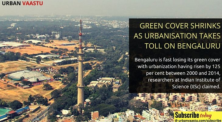 Green Cover Shrinks As #Urbanization Takes Toll on #Bangalore