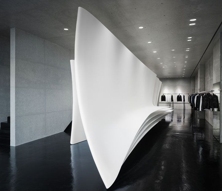 Neil Barrett Flagship Store By Zaha Hadid Architects In Tokyo Interior DesignRetail