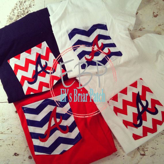 Can't wait for this to arrive!  Atlanta Braves Monogrammed Tshirts by ElsBriarPatch on Etsy, $18.00