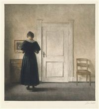 Interieur by Peter Vilhelm Ilsted