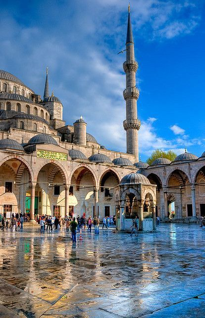 The Blue Mosque, or the Sultan Ahmed Mosque in Istanbul, Turkey.