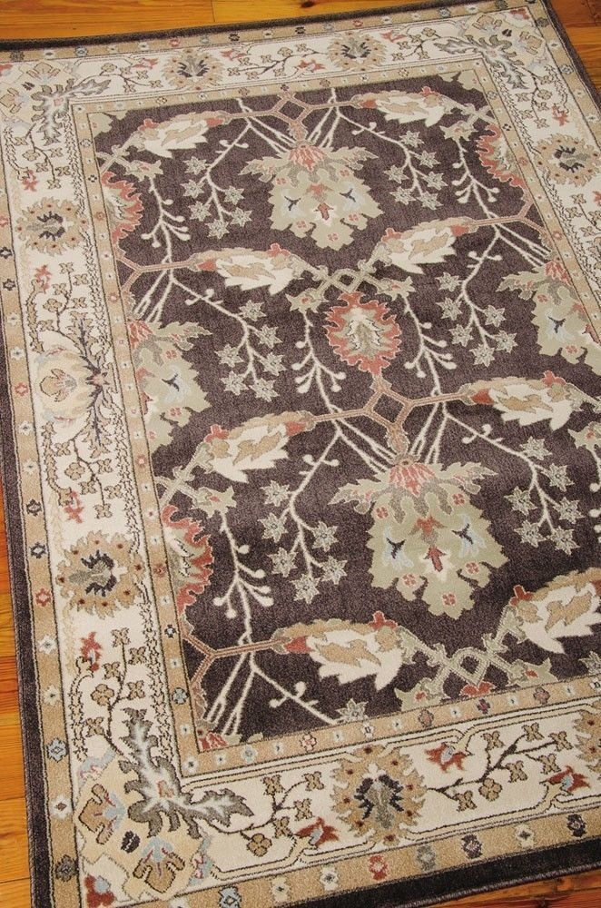William Morris Style Arts Crafts Mission Brown Area Rug Free