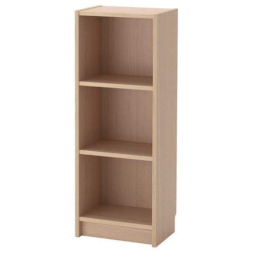 BILLY Bookcase   white stained oak veneer 80x28x106 cm ...