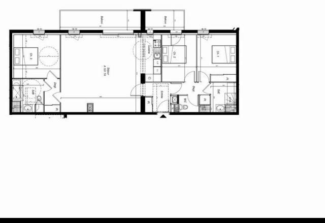 appartement 4 pieces 100 m2 CARNAC Centre ville  Rare appartement de 100m² avec grand balcon expose ouest. Salle de bains et salle d'eau. ,Emplacements de parking et garage en sous-sol ,Chauffage gaz de ville, logement BBC ,Livraison debut 2017