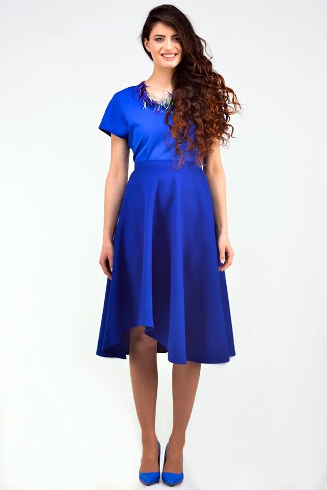 Blue asymmetrical skirts - 28,16€