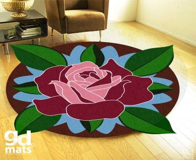 Mandala v koberci ruža