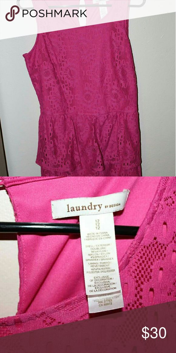 Laundry dress Pink, comfortable, only used once Laundry by Design Dresses Midi