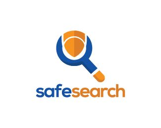 Safe Search Logo design - Logo design of a spyglass with a shield integrated in the design.  Price $250.00