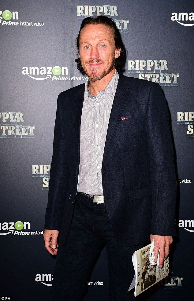 Sergent Bennet Drake: Jerome Flynn who plays a detective in the former BBC drama smiled for the camera #RipperStreet