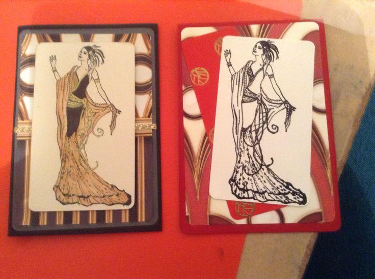 2 Art Deco cards I made.