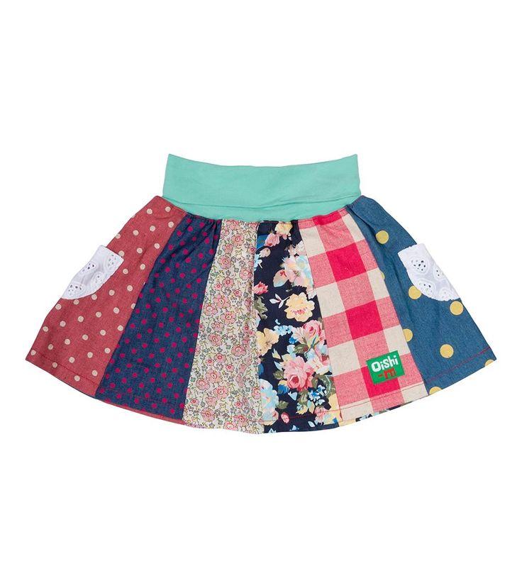 Shake it Up 12 Panel Skirt, Oishi-m Clothing for kids, HiSummer 2016, www.oishi-m.com