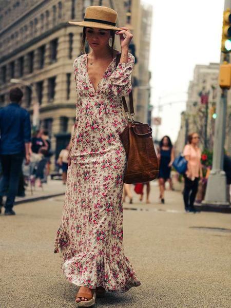 Women Boho Maxi Long Floral V Neck Beach Party Dress – Shop For Selection