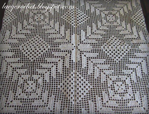Lacy Crochet: Crochet Tablecloth Update