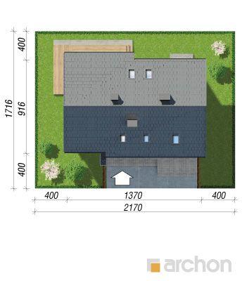 projekt Dom w złoci (A) sytuacja
