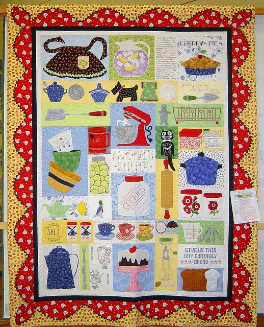 This quilt was displayed at the eudora quilt show in for Kitchen quilting ideas