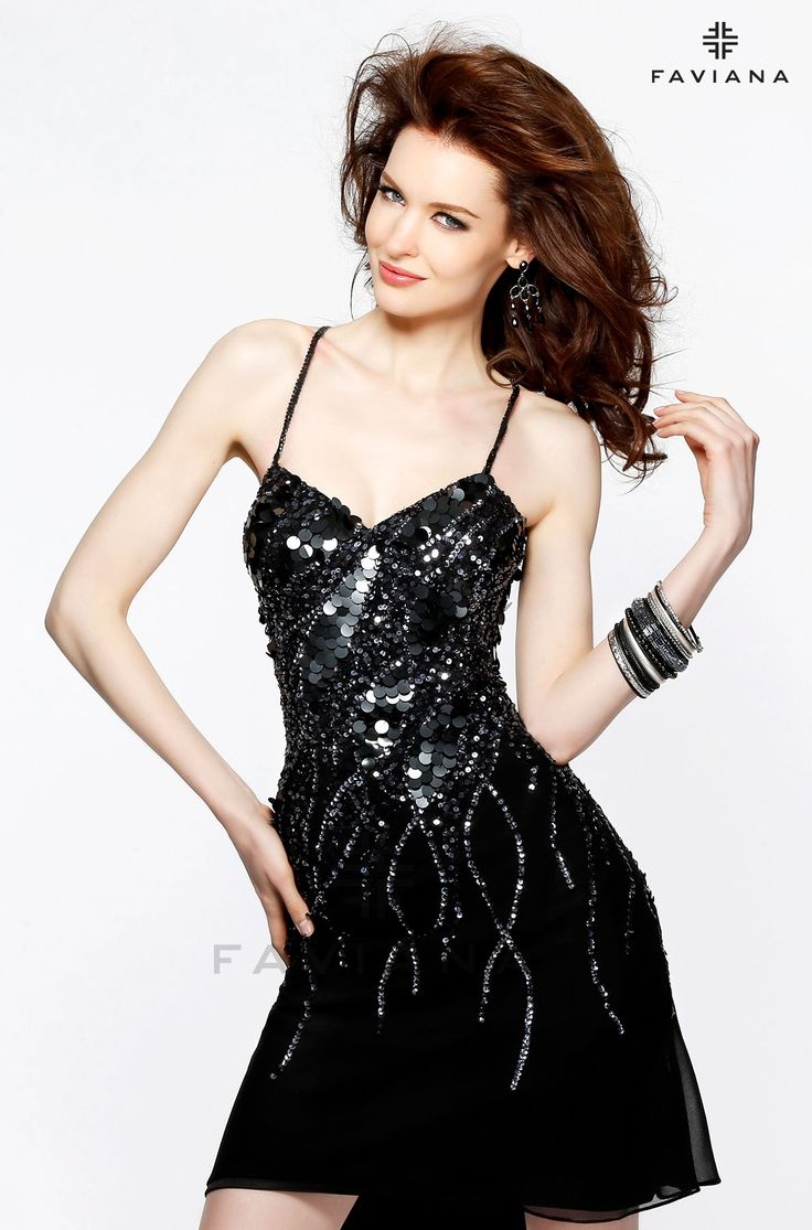 This fun and flirty little black dress is perfect for any cocktail dress occasion.