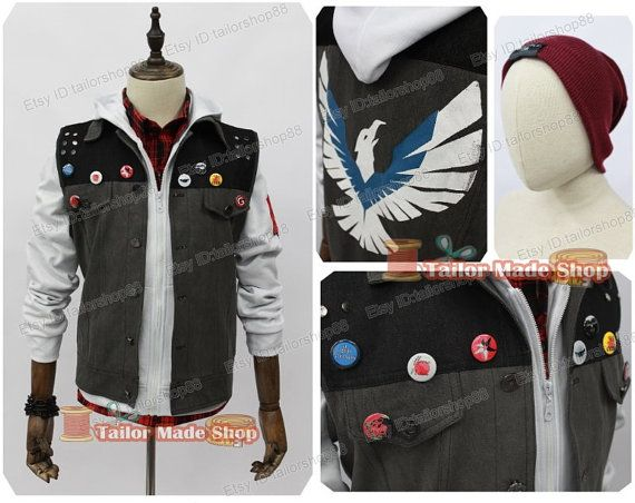 Second Delsin Rowe Cosplay Costume white version by TailorShop88