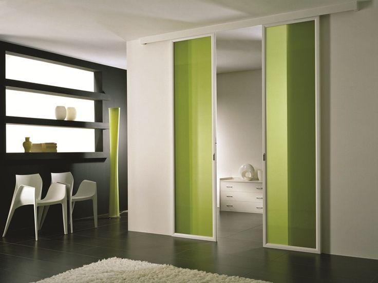 Puerta corrediza de vidrio coloreado ANTHA | Puerta de vidrio coloreado - GIDEA