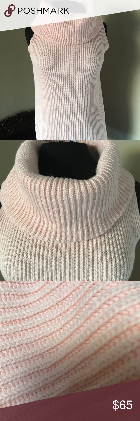 Michael Kors turtleneck Cable knit turtleneck in blush pink . Super comfortable and stylish . It's almost like a tunic and will look great with leggings . Brand new with tags . Michael Kors Tops Tunics