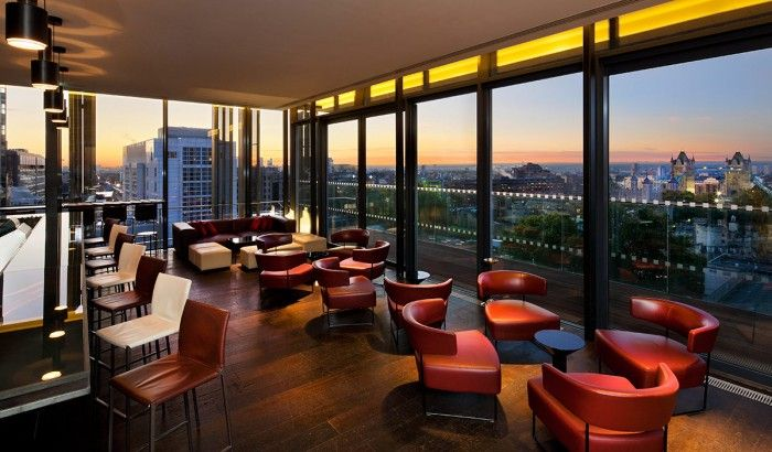 Skylounge, London, England - Londoners love their pubs so it has to be a very special type of watering hole to steer them off the streets and up into the skyline.The Double Tree by Hilton Hotel's outdoor terrace has a secret weapon – a stellar view of the city skyline. The best tables look straight across to the Gherkin and the financial district. On a sunny summer evening, it's the perfect spot for a few drinks as the sun goes down.