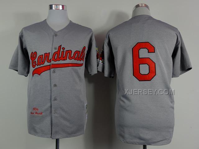 http://www.xjersey.com/cardinals-6-stan-musial-grey-1956-throwback-jerseys.html CARDINALS 6 STAN MUSIAL GREY 1956 THROWBACK JERSEYS Only $34.00 , Free Shipping!