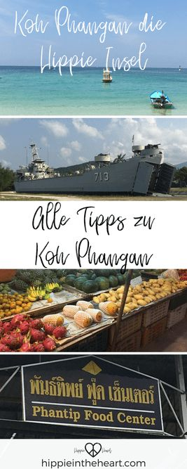 Koh Phangan die Hippie Insel - Backpacking in Thailand - Alle Tipps zu Koh Phangan - Pinterest