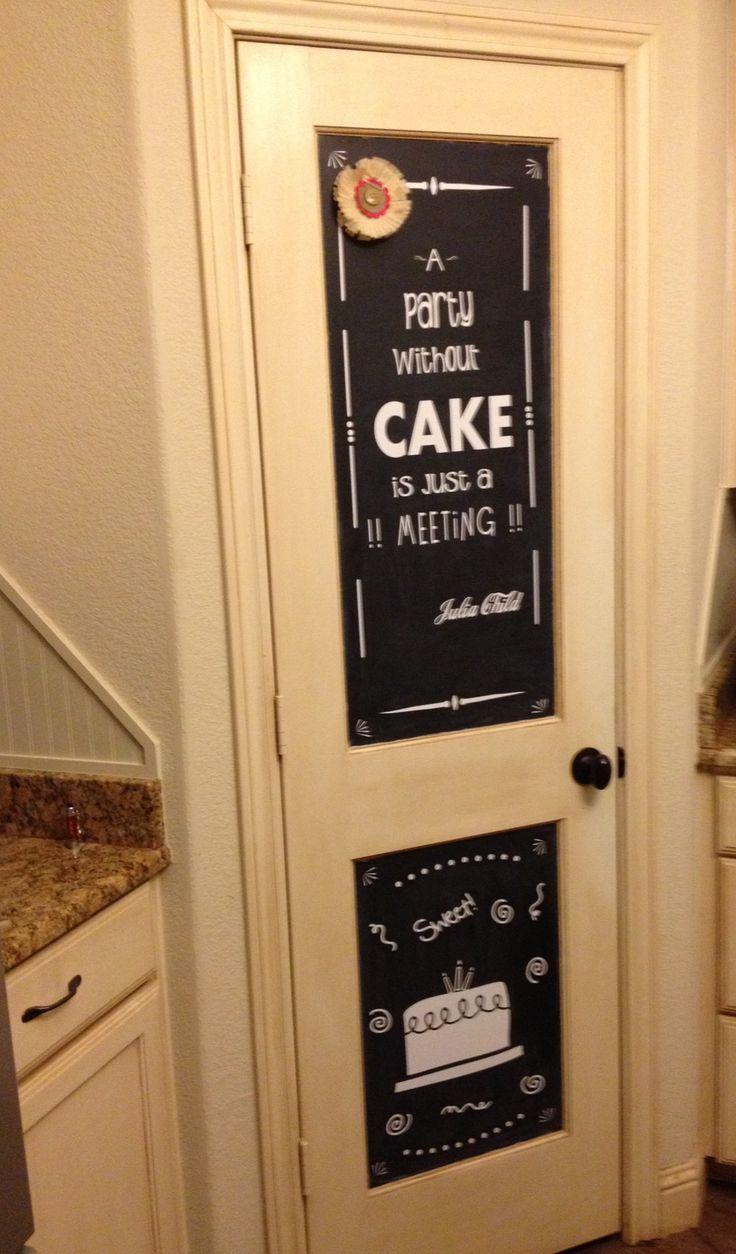 Chalkboard pantry door (vinylized ) & The 25+ best Chalkboard pantry doors ideas on Pinterest | Pantry ... Pezcame.Com