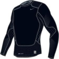 Nike Pro Combat fitted compression shirts. Made of nylon, they wick the sweat away while wearing your tactical gear and they help prevent chafing and rub burn from the rough edges of your tactical vest, battle belt, and rifle sling. An absolute necessity!