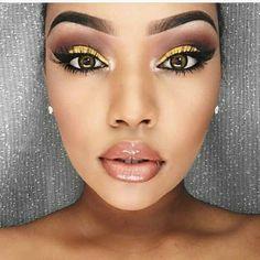 Brown and Yellow eyeline