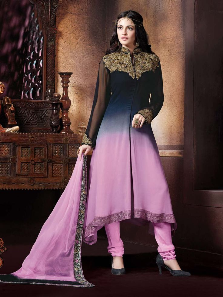An excellent designer piece will add stars in your beauty and personality.  Item Code: SLANA10782 http://www.bharatplaza.com/new-arrivals/salwar-kameez.html