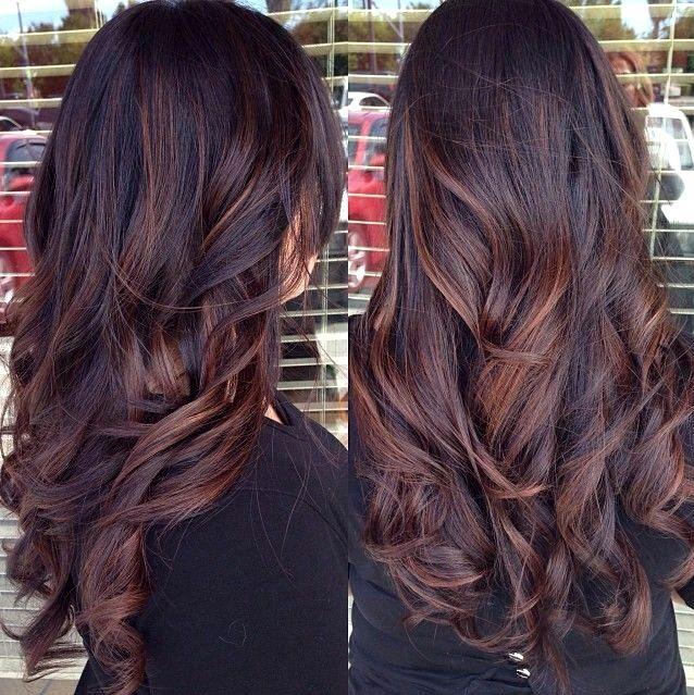 Ombre lange dunkle haare