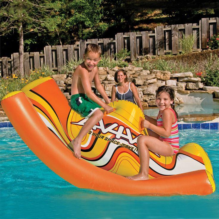 Aviva by Rave Sports Water Totter Pool Toy, Orange, Aviva Sports