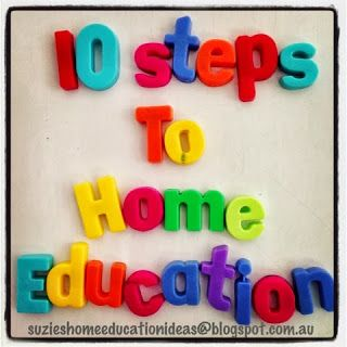 Suzie's Home Education Ideas: 10 steps to Home Education (in Australia)
