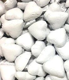500 gram bulk bags of white chocolate hearts - white color, dairy milk chocolate for sale online in Australia. Buy our white chocolate hearts online or in our Melbourne chocolate, lollies & sweets shop