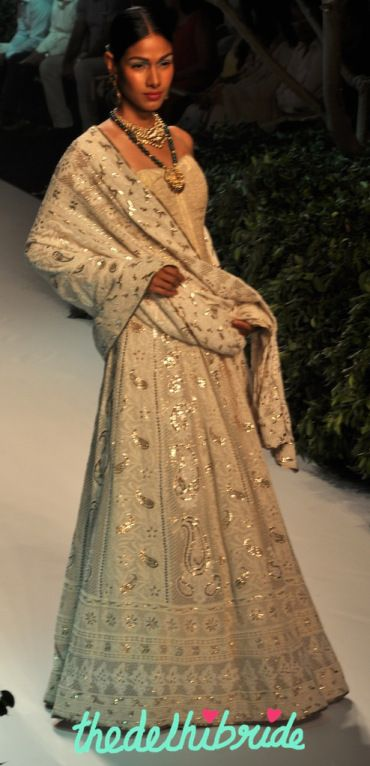 Meera Muzaffar Ali at India Bridal Fashion Week 2013 | thedelhibride Indian Weddings blog