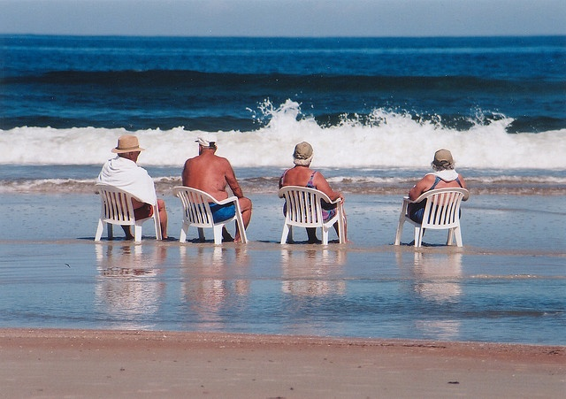 Old people on Daytona Beach.....wait, is that me? This is