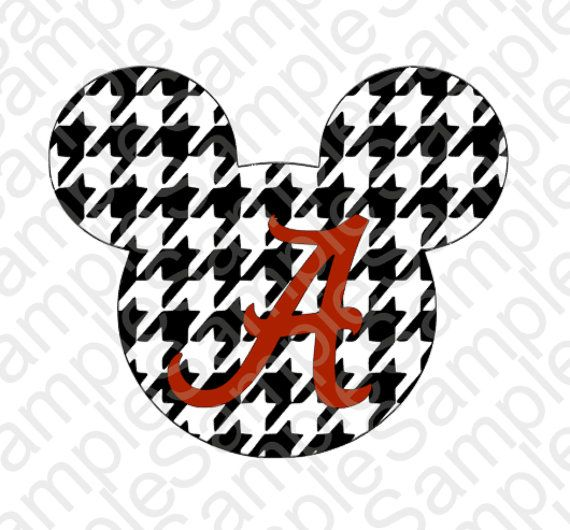 Houndstooth Mickey Mouse Head Inspired Svg And By
