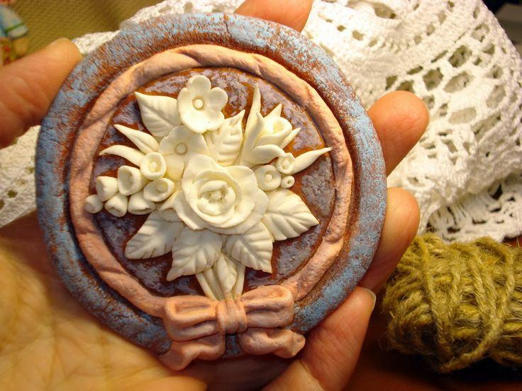 цветы, лепка, соленое тесто, холодный фарфор