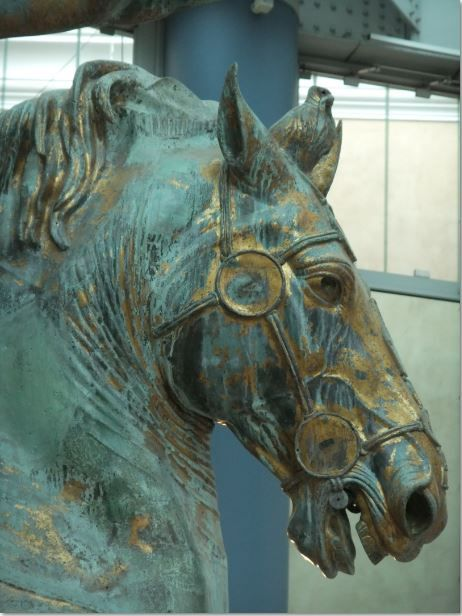 Horse Head.  Equestrian Statue of Marcus Aurelius in the Capitoline Museum, Rome