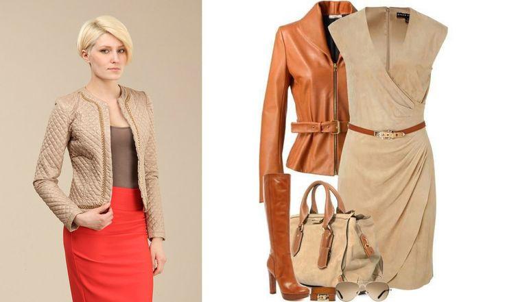 коричневая кожаная куртка сочетание - Google Search