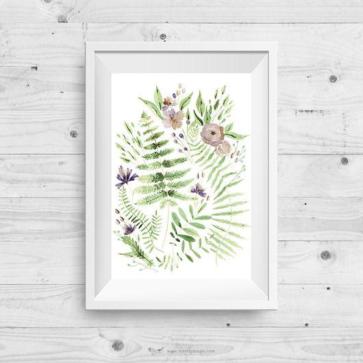 Wydruk cyfrowy autorskiej ilustracji akwarelowej z motywem botanicznym i kwiatowym. Ilustratorka włożyła w jej przygotowanie całe serce, aby zadowolić najbardziej wymagających klientów.     Dekoracja ścienna w stylu skandynawskim została stworzona dla wszystkich, którzy szukają wyjątkowy...