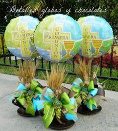"""Primera Comunión """"Detalles globos y chocolates"""""""