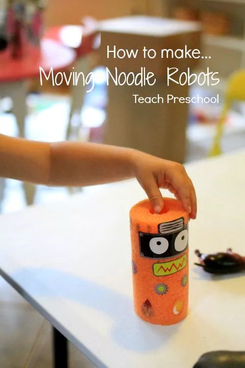 How to Make Moving Noodle Robots  (Maker Fun Factory VBS)